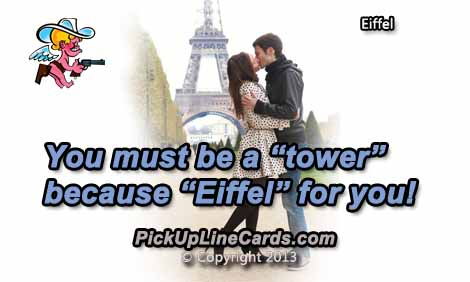 You Must Be a Tower   Pick Up Line Card