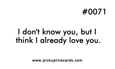 funny love pick up lines